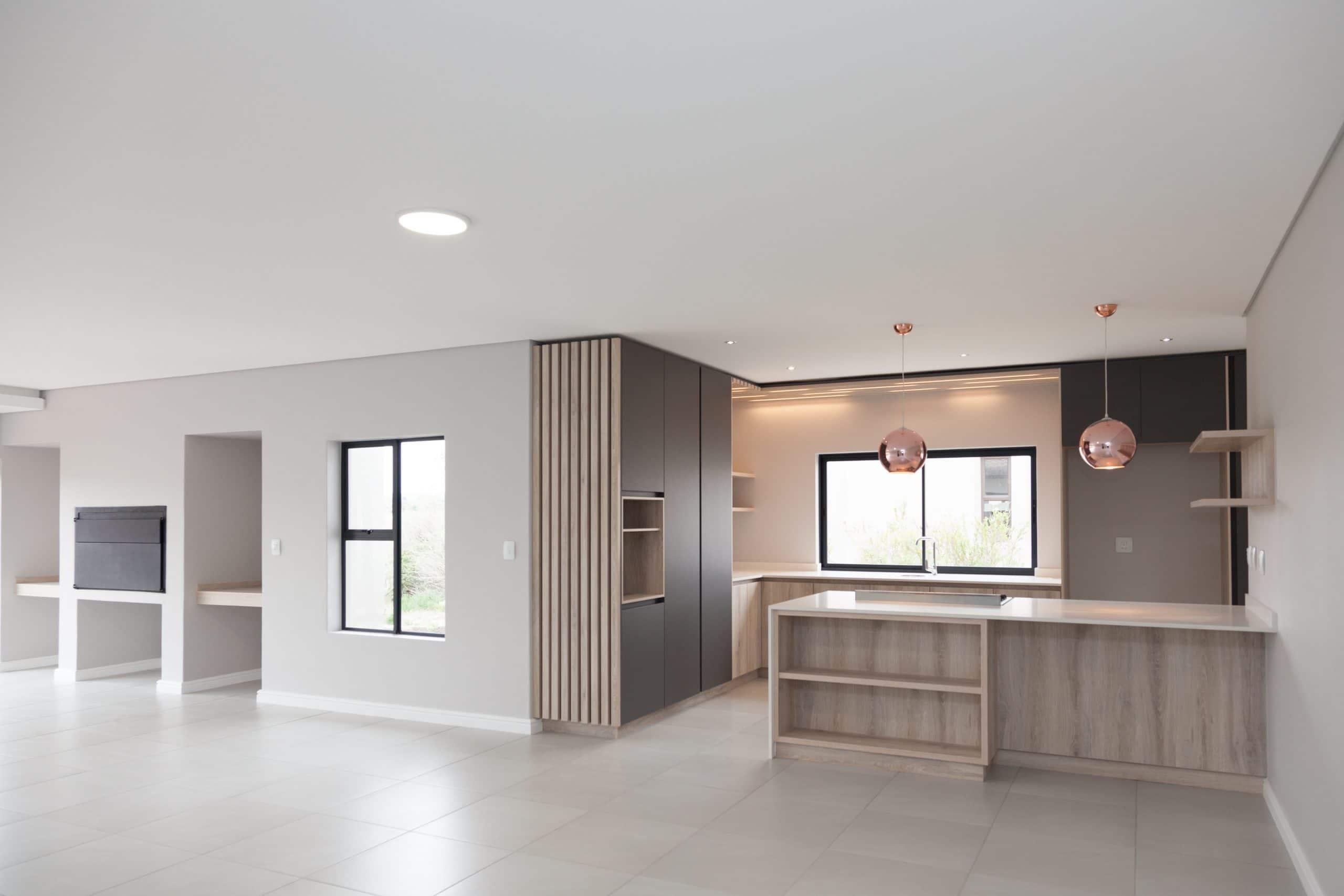 langebaan estate modern kitchen crontech consulting led lighting