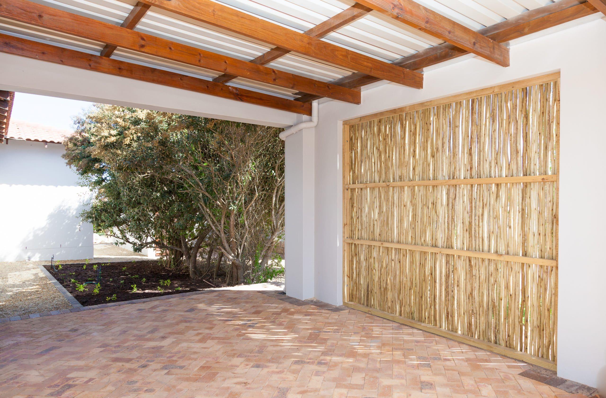 wattle enclosement for carport in langebaan country estate