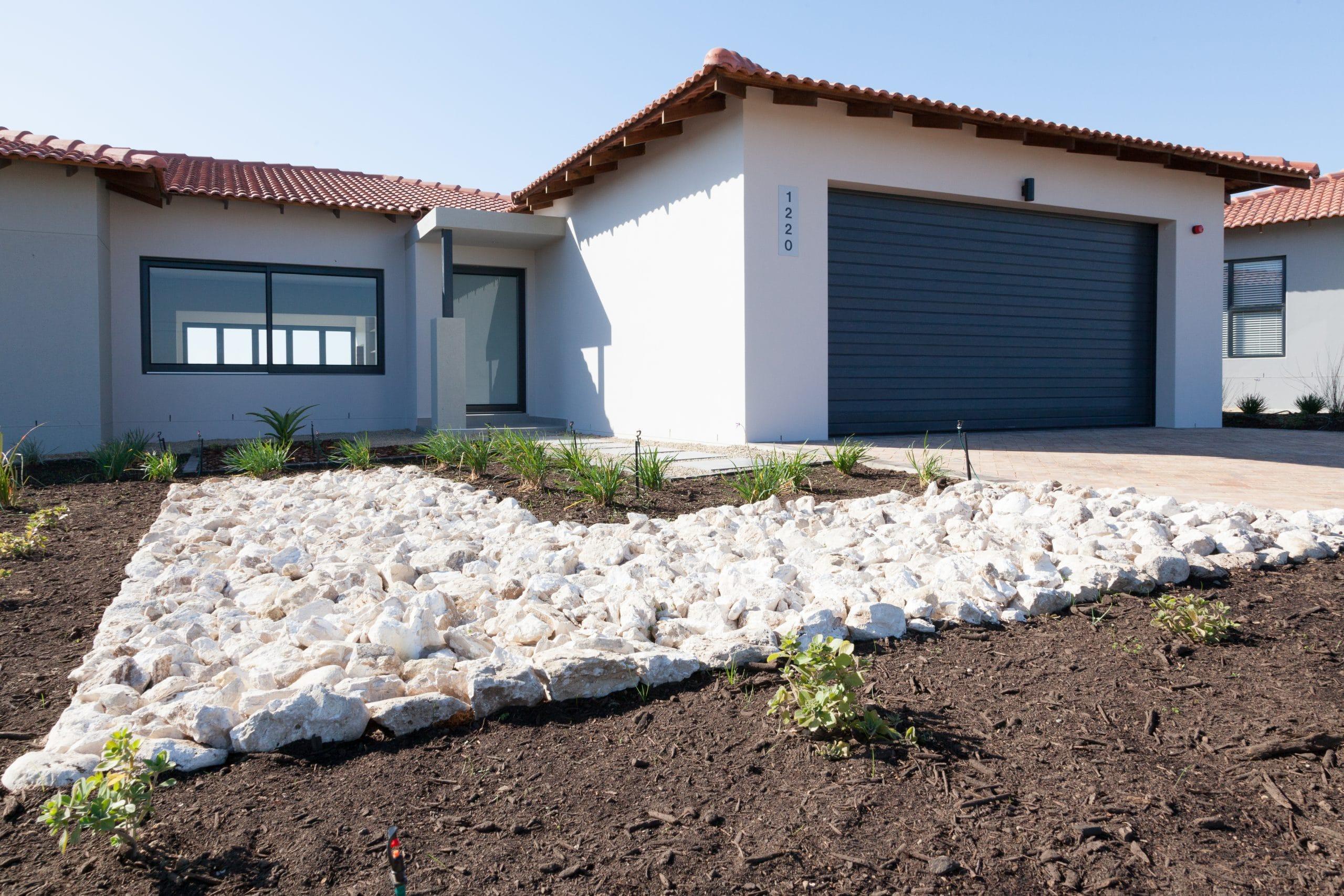 white west coast garden rocks landscaping