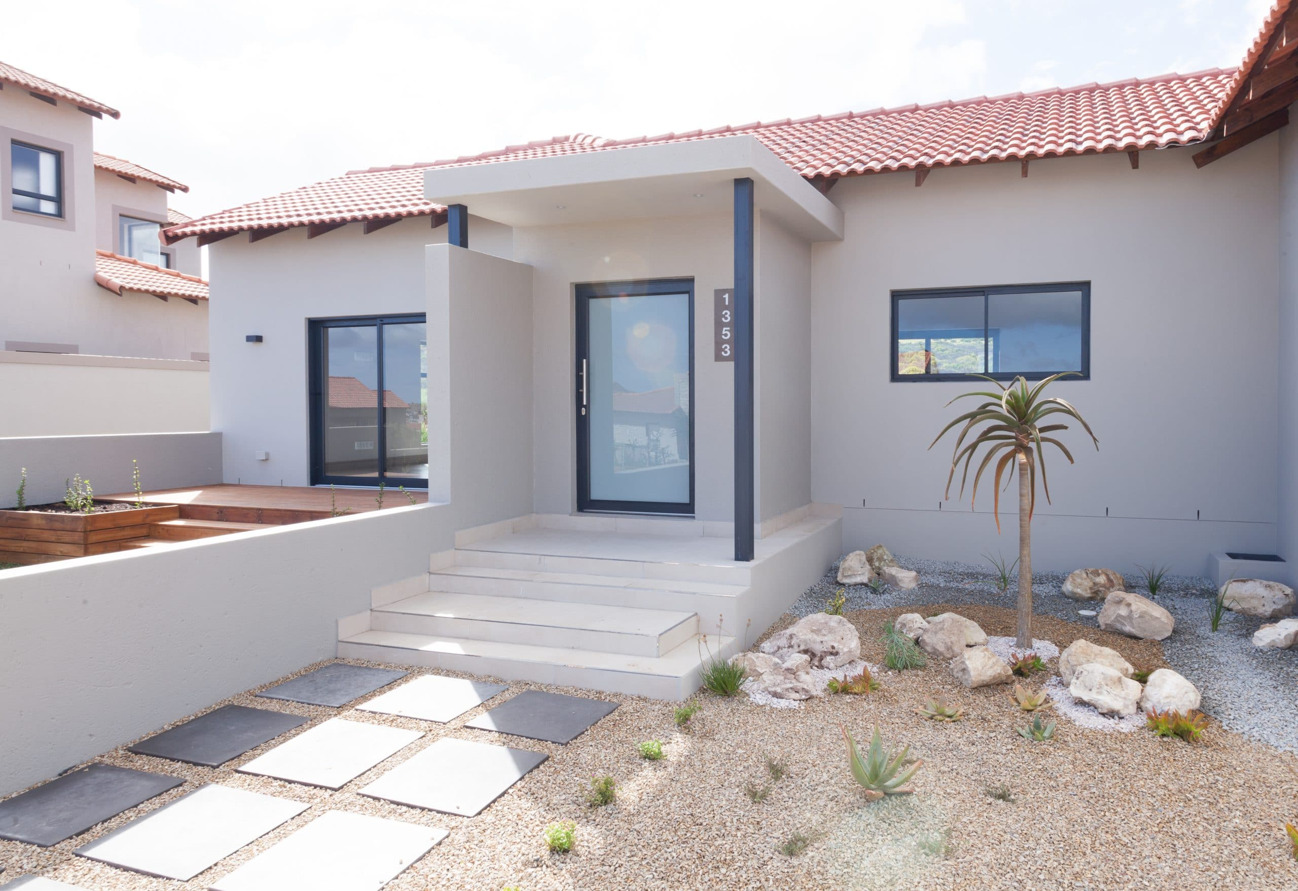 modern architecture in langebaan country estate low maintenance garden