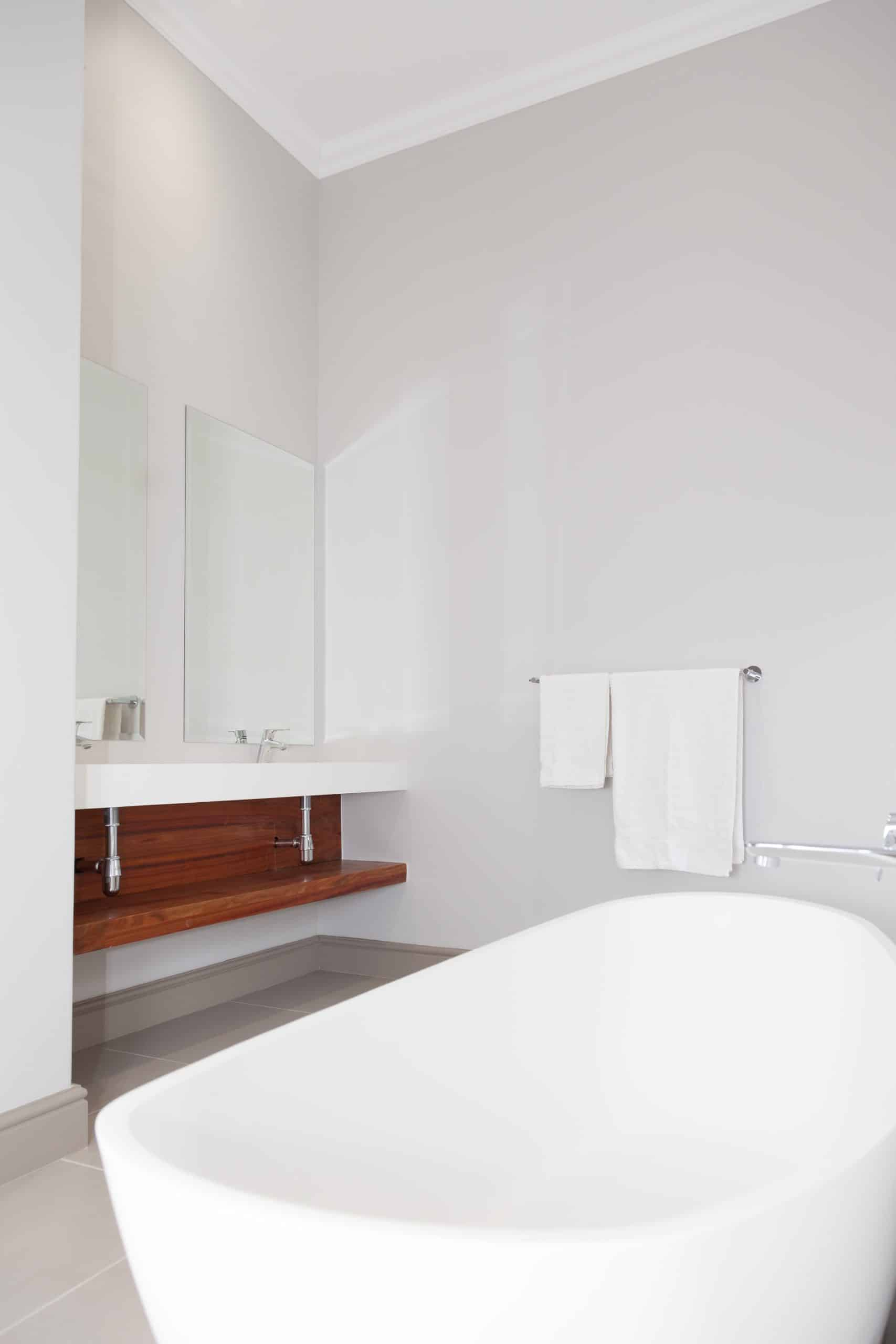 modern wood and white bathroom langebaan country estate