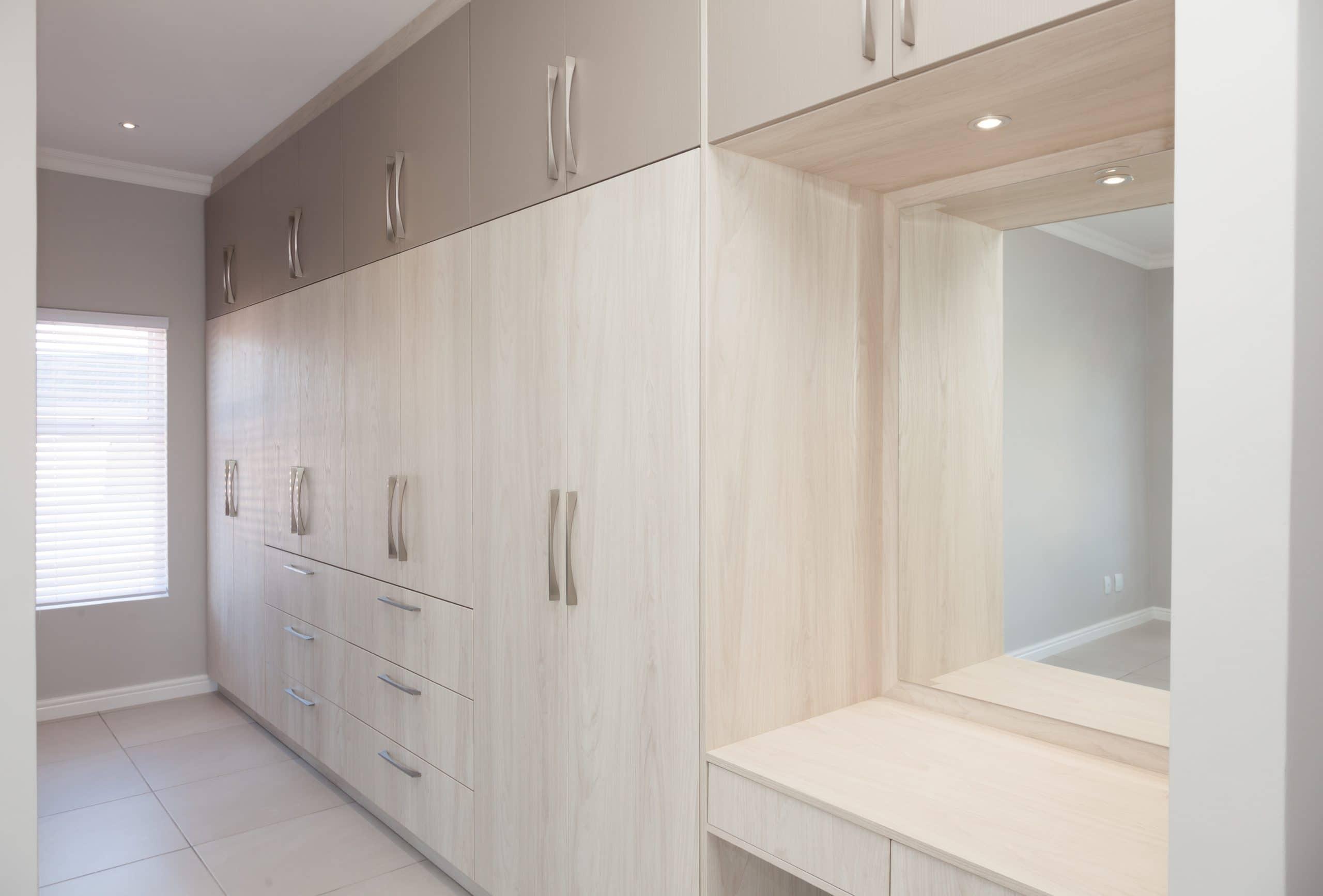 mixed finished bedroom cupboards in laguna sands langebaan