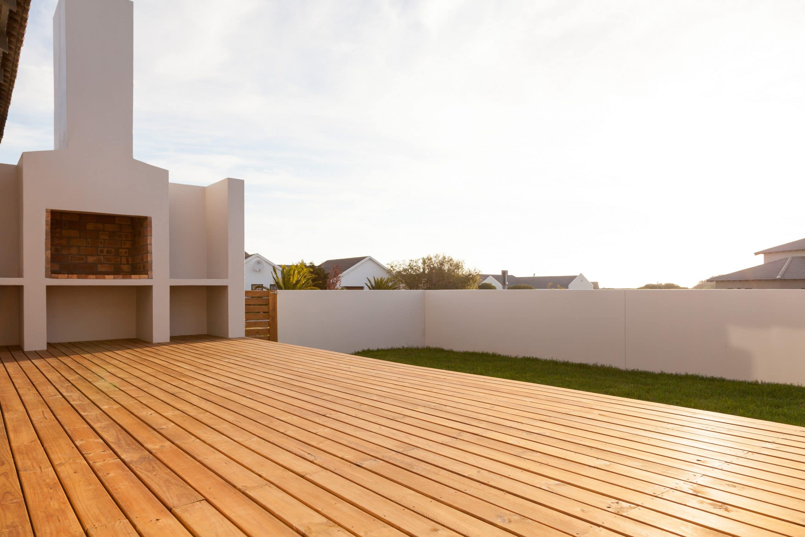 timber wooden decking green grass in langebaan country club