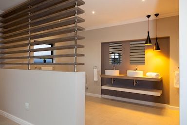 wooden slats modern interior design langebaan