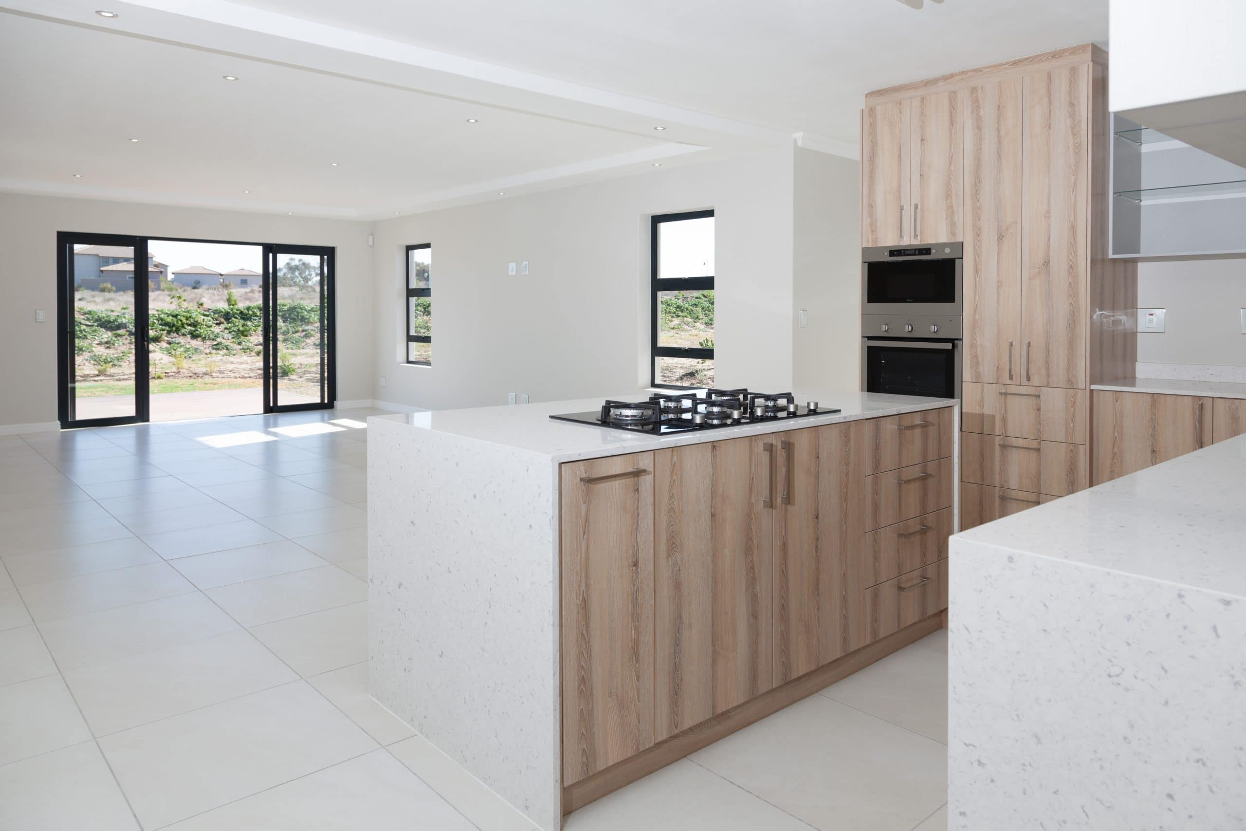 waterfall kitchen island quartz tops in langebaan country estate
