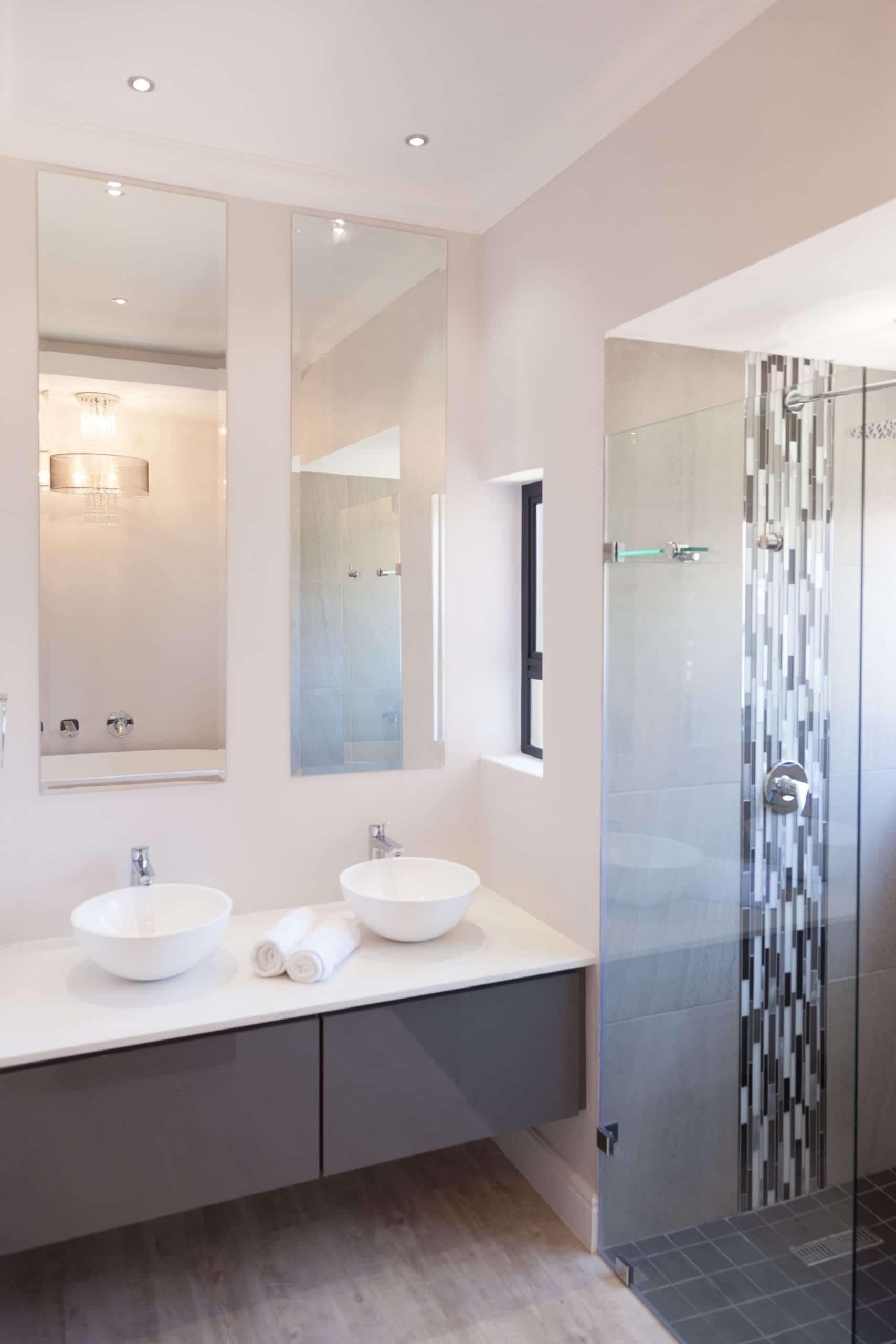 modern bathroom vanity and shower langebaan