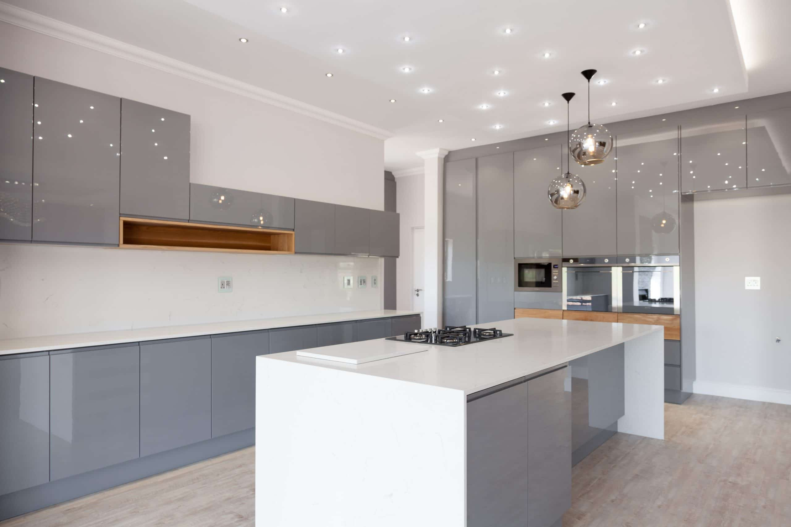 ultra modern kitchen designed by crontech consulting architecture in langebaan country estate oak grey starlight