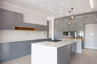 modern duco kitchen langebaan country estate grey owl kitchens